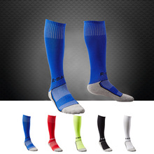 Top Quality 2015 clubs Kids Soccer Socks stockings thick knee high long football shin socks for children boys medias de futbol