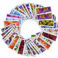 50Sheets Nail Art Flower Water Transfer Sticker Nails Beauty Wraps Foil Polish Decals Temporary Tattoos Watermark BEXF1372-1421(China)