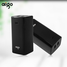 Aigo Smallest Power Bank 10000mAh Dual USB Output LED Charging Indicate Mobile Phone Backup Portable External Battery for Iphone