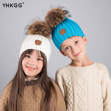 Buy YHKGG2017New Arrive Fashion Winter Real Raccoon Fur Hat Real Fur pompom Beanies Cap Natural Fur Hat Kids/Children/boys/girls for $8.40 in AliExpress store