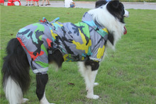FA86 free shipping 3XL-9XL big  Dog Raincoat Dog  waterproof Taffeta  Raincoat for 4 legs spring/autumn Clothing Pets  Clothes
