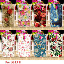 Hard Phone Cases For LG Optimus L7 II Dual P715 P716 Duet+ 4.3 inch Cases Flowers Rose Back Covers Sheaths Skin Housings Bag
