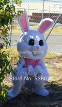 Hot Sale Newest LoveLy Custom Made Easter White Bunny Mascot Costume Adult Plush Rabbit Mascotte Outfit Suit Fancy Dress SW794