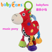 Baby Rattles Mobiles Mamas Papas Stroller Baby Horse Music Plush Toys For Newborns Toddler Toys Baby Plush Rattle Toy Brinquedo(China)