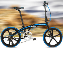 7 Speeds, 20 inches, Folding Bike, Super Light, Aluminum Alloy Frame, BMX, Double Disc Brake, For Men and Women.