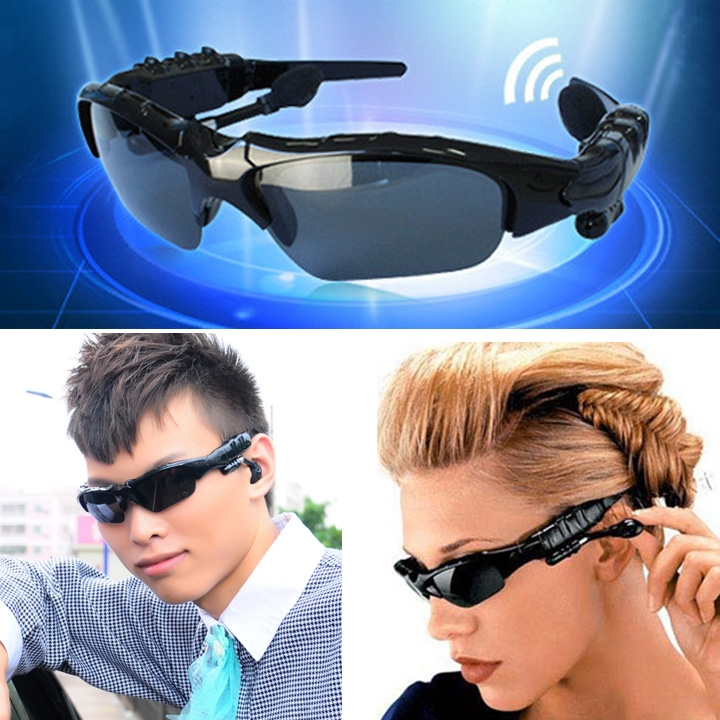 2017 New Arrival Wireless Bluetooth Sunglasses Headset Universal Stereo Sports Headphones Smart Phone Travel Cycle Climbing
