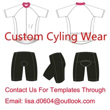 Factory Price 2016 Custom Cycling  Jersey + Shorts Summer Set Customize Cycling Clothes Min order 1 In Any Color,Any Size