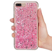 "For iPhone 7 Case Glitter Gold Foil Case for iPhone 7 4.7""Ultra Thin Soft TPU Sliver Bling Paillette Sequin Skin Back Cover Capa"