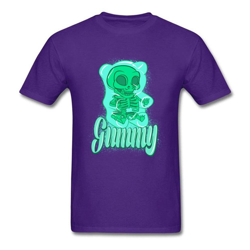 gummy bear Casual Summer Autumn 100% Cotton Round Neck Men Tees Design Tee-Shirt 2018 Discount Short Sleeve Top T-shirts gummy bear purple