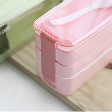 Good 900ml Portable 3 Layer Healthy Food Container Microwave Oven Lunch Bento Boxes Lunchbox(China)