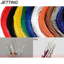 5/10 metres 10 colors choose 2 Sizes super flexible 26AWG PVC insulated Wire Electric cable, LED cable, DIY Connect(China)