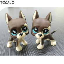 5cm Lovely Collection LPS Action Figure Brown Great Dane Dog Puppy Dot Eyes #817 Kids Gifts With Opp Bag(China)