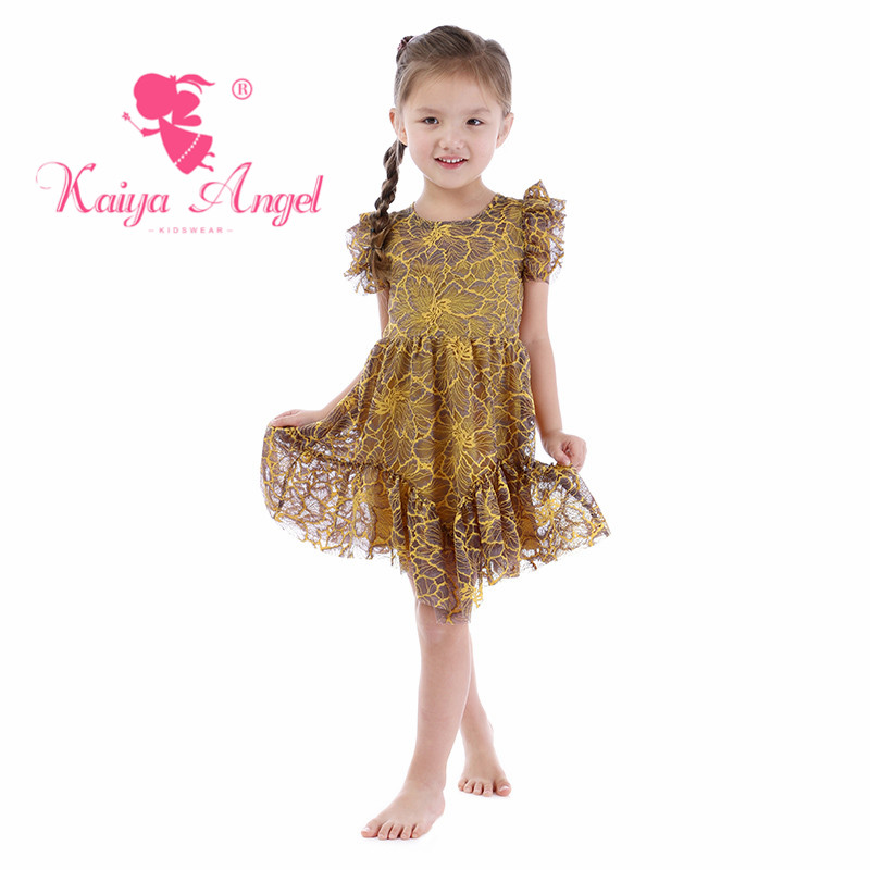 Kaiya Angel Toddler Girls Summer Wedding Party Princess Dresses Toddler Adorable Kids Spring Princes Party Factory Wholesale