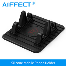 AIFFECT Soft Silicone Car Holder Mobile Phone Holder Stand GPS Anti Slip Mat Desktop Stand Bracket for iPhone 5s 6 7 Samsung(China)