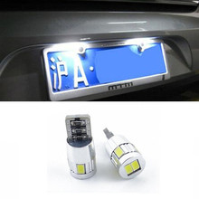 2x Car CANBUS Bulbs T10 194 W5W 6 LED SMD White Turn/Tail Light License Plate Light For Chevrolet Cruze Camaro Captiva