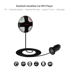 Brand New Handsfree Bluetooth Car Kit MP3 Player Wireless FM Transmitter Magnetic Sticker TF Micro SD Card Slots USB Charger/ABS
