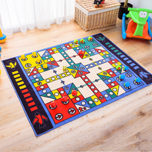 Blue Children Puzzle Game Flying Chess Pieces Rug and Carpet For Living Room Bedroom Child Game Large Rug Cartoon Non Slip Mats