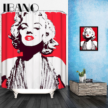 Marilyn Monroe Shower Curtain Pattern Customized Shower Curtain Waterproof Bathroom Fabric 165x180cm Shower Curtain For Bathroom(China)
