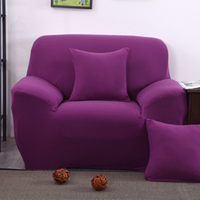couch/ arm chair/ loveseat /Chaise living room two seater sofa/ l corner  sofa cover  solid color purple Slipcover