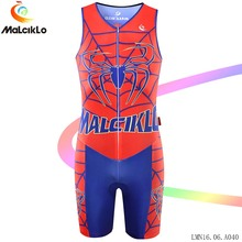 Malciklo Sleeveless Bicycle Bike Jumpsuit Spiderman hero Red High-quality Elastic Fit Road Biking Cycling Coverall