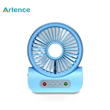 Multifunctional Chargeable Mini USB Fan With Power Bank For phone Led Night Light 2000mAh 3 Gears Office Powerful Computer Fan
