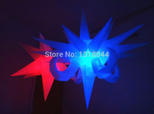 Free shipping hanging colorful attractive inflatable led star for club decoration