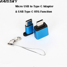 Haissky Metal Type-C Adapter Kits Micro USB To Type C & USB To Type-C OTG Converter Data Sync Charging Adapter Phone Accessories