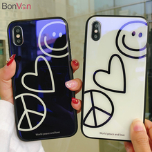Buy BONVAN Tempered Glass Case iPhone 7 6S 8 Plus 6 Plus Blue Ray Cute Hard Back Cover Soft Silicone Bumper iPhone X Cases for $5.99 in AliExpress store