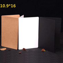 Retro Kraft Paper White Fold Card Valentine's Day Birthday Gift Card Painting Handmade DIY Blank Greeting Card 20pcs/lot