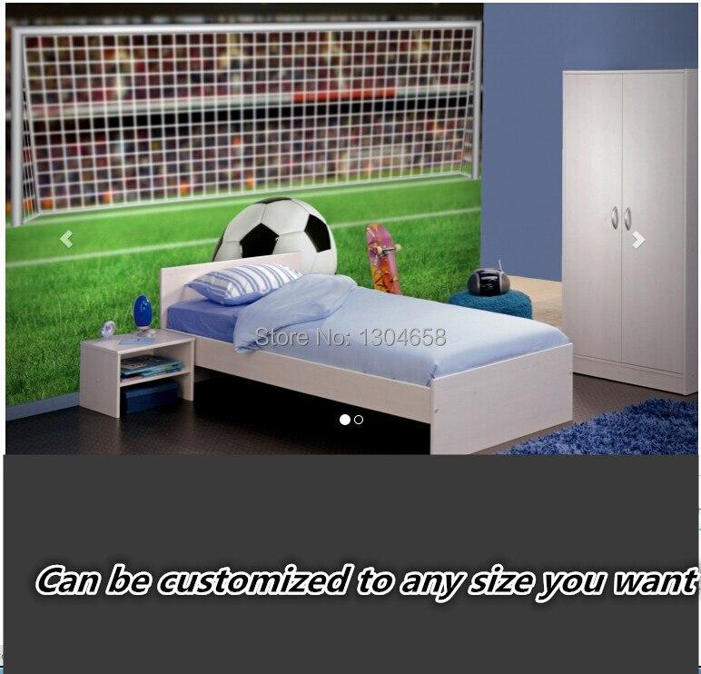 Free shipping custom- modern 3D mural bedroom living room sofa background wallpaper Soccer Penalty Wall Mural silk cloth<br>
