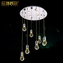 creative waterdrop modern fashion bubble crystal column led pendant light for stair dining room living room AV 80-265V 1083(China)