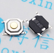 100pcs 4*4*1.5mm Light touch switch SMD4 waterproof ON/OFF Touch button Touch micro switch 4*4*1.5 keys button SMD 4pin