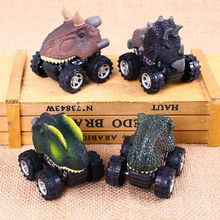 New Plastic Dinosaur Dragon Shaped Car Toy Model Hobby Toys Car Replace Kids Gifts Boys Girl Animal Pull Back Car Toy Vehicles(China)