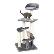 PAWZRoad Cat Scratching Toy Wood Semi-circular Staircase Cat Jumping Toy Climbing Stable Frame Cat Furniture Post #0209(China)