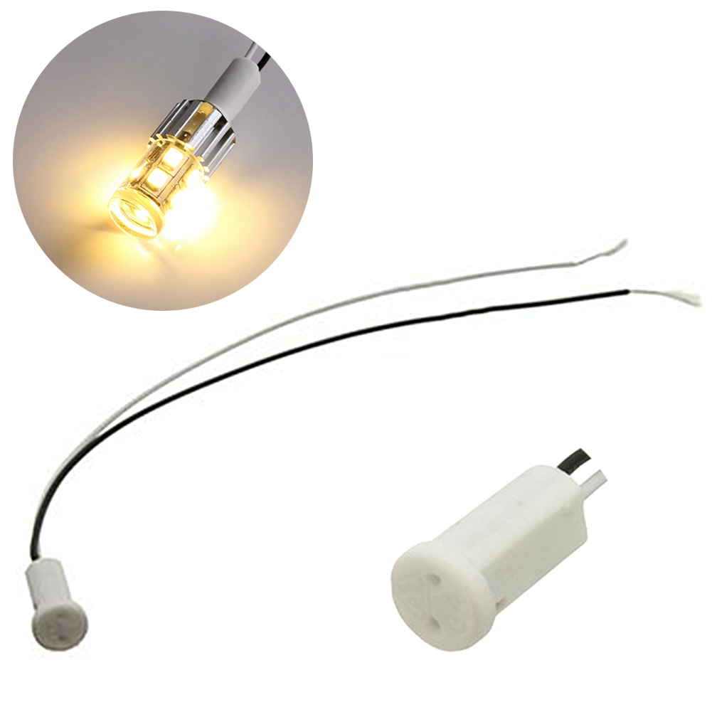 G4 Base Holder Ceramic Wire Adapter Halogen Socket Connector for LED Bulb Lamp