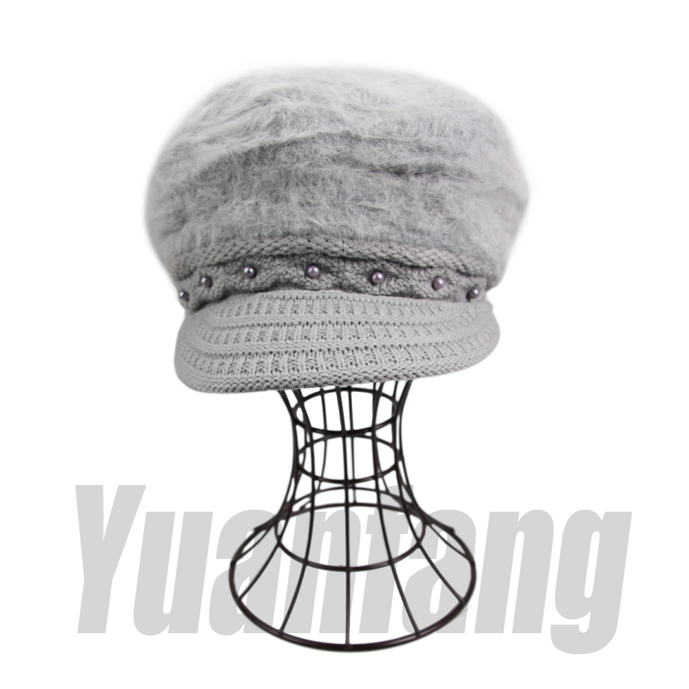 Pearl Accessory Baseball Knitted Hat Winter Dress Comfortable Wool Beanies Cap 4 Colors Solid Wholesale Free Shipping YF110206Îäåæäà è àêñåññóàðû<br><br><br>Aliexpress