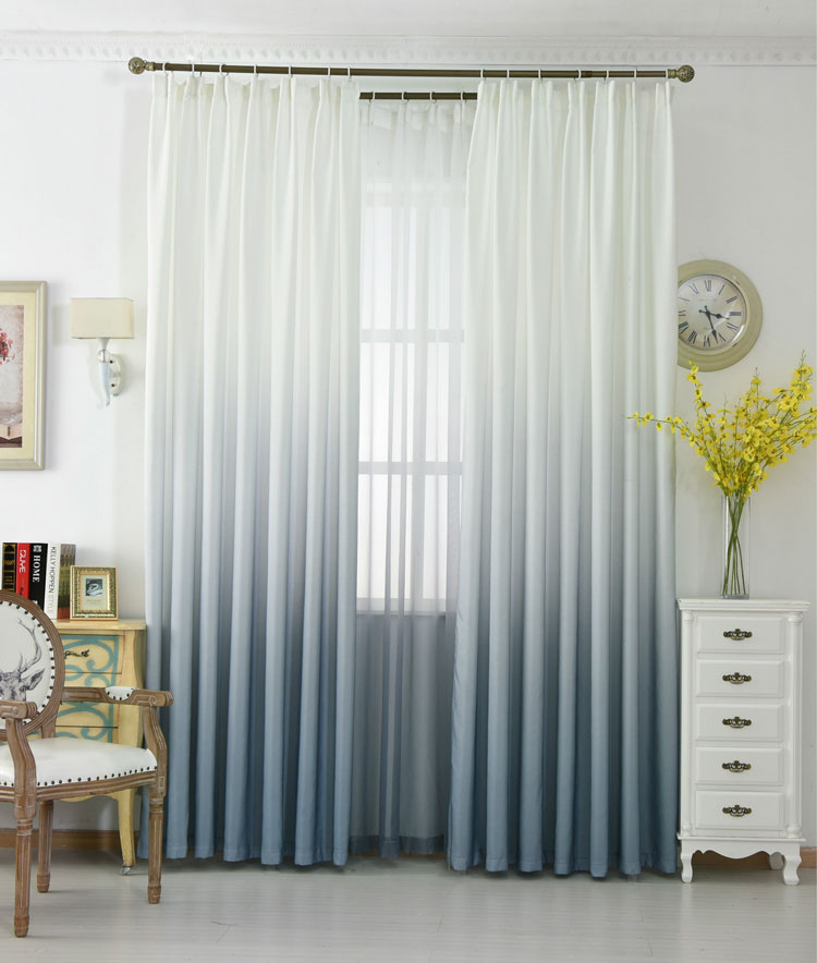 HTEXQ Window Gradient Curtain Living Room Modern Home Goods Window