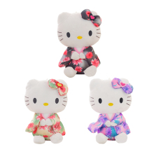 1PC 20cm Creative Stuffed Animal Hello Kitty Kimono KT,Kawaii Doll ,Anime Toy For Girl ,Birthday's Gift Kid Toy(China)