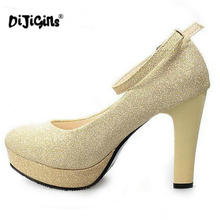 2018 11CM Patent Leather Women Pumps Red Round Toe Party/Wedding Sexy Ladies Platform Pumps Casual High Heels Shoes