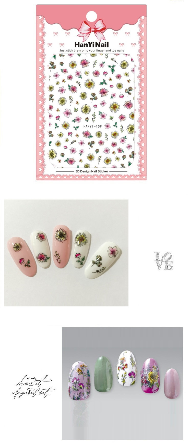 Sticker women manicure nail tip diy decoration hanyi159