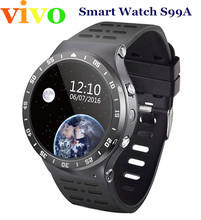 S99A 3G Smart watch Android 5.1 OS 360*360 Full round screen 512MB / 8GB wristwatch Support sim card wifi camera Google Voice