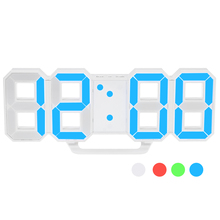 8 colors Modern LED Digital Wall Clock 12H or 24H Time Display With Alarm and Snooze Function Table Clock Adjustable Luminance(China)