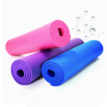 10mm 15mm 20mm Thick Rubber Yoga Mat Kids Adult Anti-skid Gym Pilate Fitness Mat Non-Slip Yoga Pad Mat with Carry Strap(China)