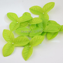 Free shipping New Arrived 200pcs artificial Hybrid leaves flower leaves high simulation leaves nylon stocking flower(China)