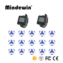 Mindewin 2017 New 433mhz Transmitter 15pcs Waterproof Call Buttons +2 pcs Watch Pager Restaurant Wireless Calling Service System(China)