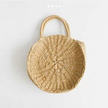 Buy 2018 Lady Fresh Handbag Summer Beach Tote khaki Handmade Rattan woven Round Handbag Vintage Retro Straw Knitted Messenger Bag for $16.46 in AliExpress store