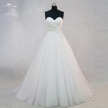 RSW979 Simple Cheap A Line Wedding Dress Real Photo