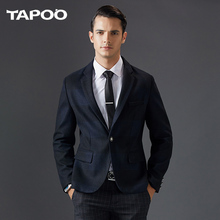 TAPOO New Arrival Brand Clothing Jacket Autumn and winter Suit Men Blazer Fashion Slim Male Suits Casual Solid Color Men 805(China)