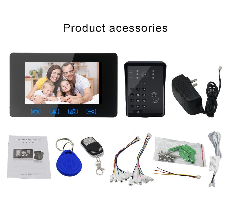 2018 Access Control Password Unlock +ID Card Unlock Video Intercom Door Bell Camera