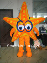 export high quality orange sea star mascot costumes for show character star costumes this one has no helmet(China)